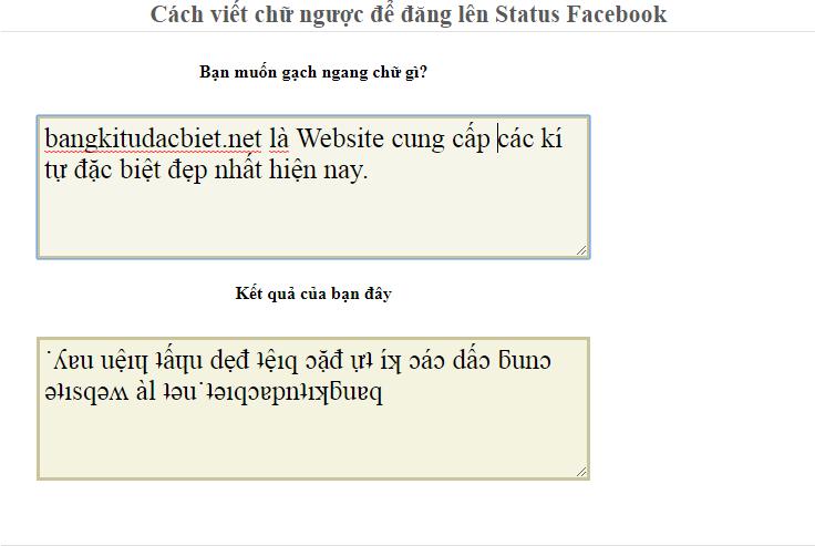 Cách viết chữ ngược để đăng lên Status Facebook icon
